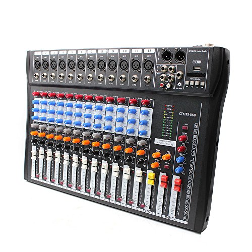 USB Sound Live Studio Mixer 12 Channel Line PRO Audio Mixing Consoles
