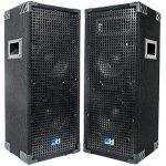 Grindhouse Speakers – GH28L-Pair – Pair of  Passive Dual 8 Inch 2-Way PA/DJ Loudspeaker Cabinets  – 900 Watt  each Full Range PA/DJ Band Live Sound Speaker