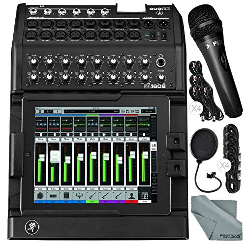 Mackie iPad-Controlled 16-Channel Digital Live Sound Mixer Bundled