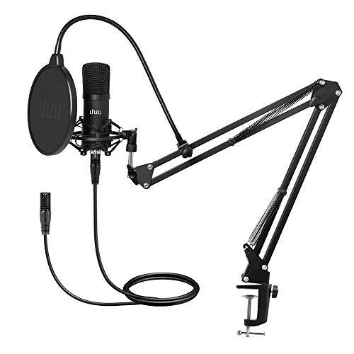 XLR Condenser Microphone, UHURU Professional Studio Cardioid Microphone Kit