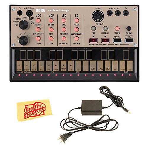 Korg Volca Keys Analogue Loop Synth Bundle with Power Supply