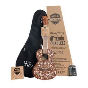 KALA, 4-String Ukulele, Right, Mahogany & White