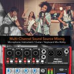 PYLE Sound 6 Channel Bluetooth Compatible Professional Portable Digital Dj Console w/USB Mixer Audio Interface-Mixing Boards For Studio Recording-PylePro PMXU68BT, Black 1