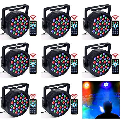 DJ Lights, KOOT 36 X 1W RGB Stage Disco Uplighting Package Sound