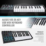 Alesis V25 25-Key USB MIDI Keyboard Controller & Drum Pad with Samson Meteor Mic USB Microphone Deluxe Bundle 1