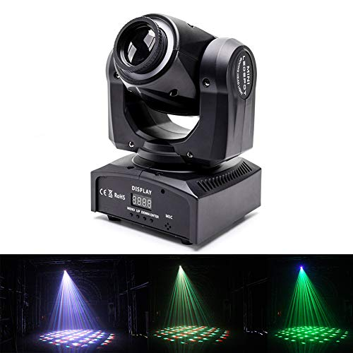 U`King Moving Head Light 60W 4 in 1 Color Stage Lighting Kaleidoscope