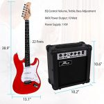 PylePro Full Size Electric Guitar Package w/ Amp, Guitar Bundle, Case & Accessories, Electric Guitar Bundle, Beginner Starter Package, Strap, Tuner, Pick, Ready to Use Out of the Box, Red (PEGKT15R) 2
