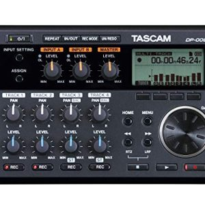 Tascam 6-Track Digital Pocketstudio Multi-Track Audio Recorder