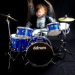 ddrum D1 Junior Complete Drum Set with Cymbals, Police Blue 1