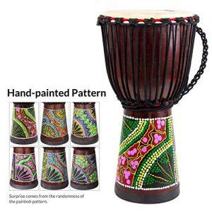African Drum, Hand-Painted Bongo Congo Djembe Drum