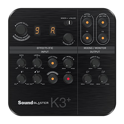Creative Sound Blaster K3+ USB Powered 2 Channel Digital Mixer