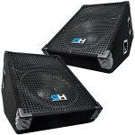 Grindhouse Speakers - Pair of 12 Inch Passive Wedge Floor / Stage Monitors