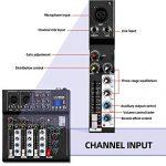 Depusheng HT4 Professional 4 Channel USB Jack Portable Audio Mixer Bluetooth Live Studio Audio DJ Sound Mixing Console 3