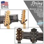 String Swing SW5RL-B-K Guitar Keeper Bundle with 5 Guitar Hangers & 1 Black Vein Strong Wall Mount 3