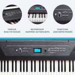Alesis Recital Pro   Digital Piano / Keyboard with 88 Hammer Action Keys, 12 Premium Voices, 20W Built in Speakers, Headphone Output & Powerful Educational Features 1
