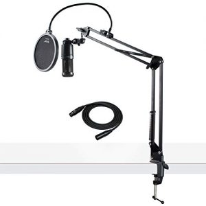 Audio-Technica Condenser Studio Microphone with XLR Cable Knox Studio