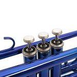 Eastrock Trumpet Brass Standard Bb Trumpet Set for Beginnner, Student with Hard Case, Gloves, 7C Mouthpiece, Trumpet Cleaning Kit (Dark Blue) 1