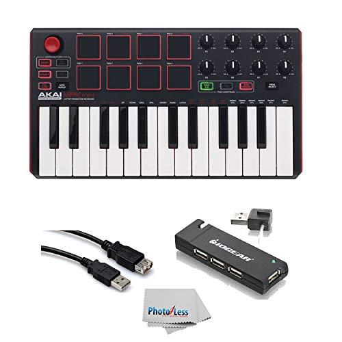 Akai Professional MPK MINI MK2 MKII | 25-Key Ultra-Portable USB MIDI