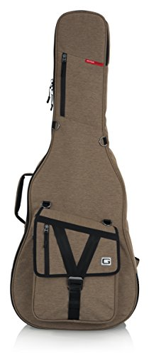 Gator Cases Transit Series Acoustic Guitar Gig Bag; Tan Exterior