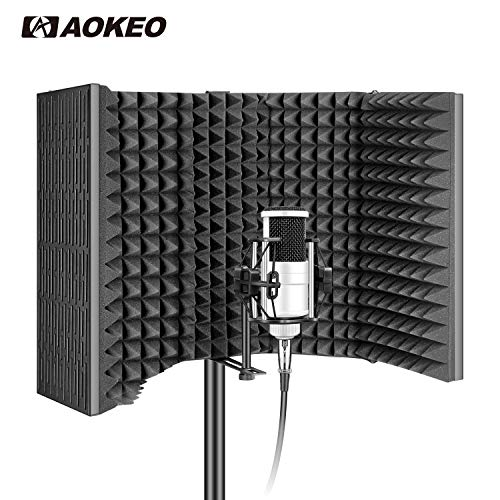 Aokeo AO-Professional Studio Recording Microphone Isolation Shield