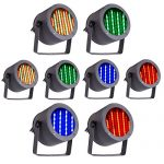 CO-Z 8pcs DMX Controlled LED Stage Lights, 86 RGB Sound Activated Par Stage Effect Lighting for DJ Home Party Festival Bar Club Wedding Church Uplighting 2