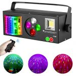DJ lights, 4 in 1 Sound Activated RGBW Stage Lights with Remote Control