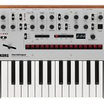 Korg Monologue Monophonic Analog Synthesizer – Silver Bundle with Power Supply and Austin Bazaar Polishing Cloth 1