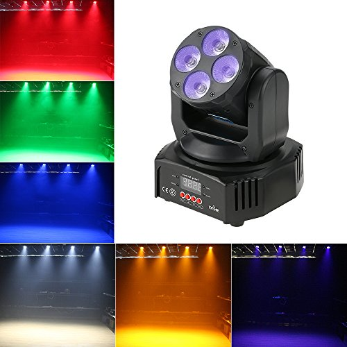 Tomshine 60W Moving Head Lights 6 IN1 16/18 Channels Stage Lighting