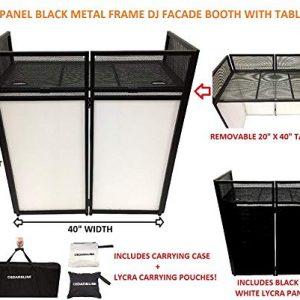 DJ Event Facade White/Black Scrim Metal Frame Booth