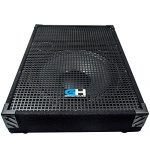 Grindhouse Speakers – GH15M-Pair – Pair of 15 Inch Passive Wedge Floor / Stage Monitors  400 Watts RMS each – PA/DJ Stage, Studio, Live Sound 10 Inch Monitor 2