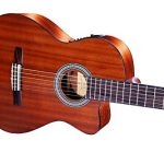 WINZZ Nylon-string Classical Guitar 39 Inches Electric Build-in Pickup Cutaway with Extra Strings, Bag, Cleaning Cloth, Tuner and Cable 2