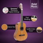 Classical Guitar with Soft Nylon Strings by Hola! Music, Full Size 39 Inch Model HG-39GLS, Natural Gloss Finish – FREE Padded Gig Bag Included 2
