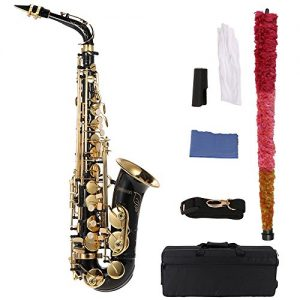ammoon bE Alto Saxphone Brass Lacquered Gold E Flat Sax