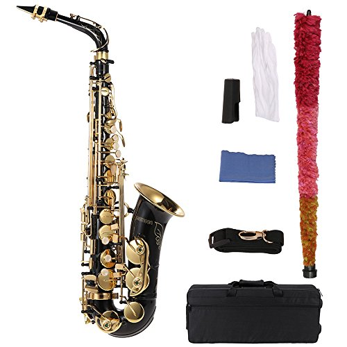 ammoon bE Alto Saxphone Brass Lacquered Gold E Flat Sax