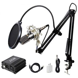 TONOR Pro Condenser Microphone XLR to 3.5mm Podcasting Studio