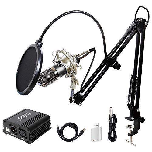 TONOR Pro Condenser Microphone XLR to 3.5mm Podcasting Studio