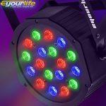 Eyourlife 8PCS 18 X 3W LED Stage Light DJ Par Lights 54W RGB Par 64 DMX512 Uplighting for Dj Stage Lighting Show Disco Party Light 2