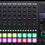 Roland MC-707 Groovebox Sequencer Bundle with AC Adapter, Silicon Power 32GB microSDHC Memory Card with Adapter, Blucoil Mini USB Type-C Hub with 4 USB Ports, and 2-Pack of 5-FT MIDI Cables 1