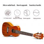 GECKO Ukulele Concert Acacia (KOA) Polished 23 inch Ukulele, 4 String with Aquila Strings Hawaii Guitar Carry bag 3