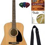 Fender Dreadnought Acoustic Guitar - Natural Bundle
