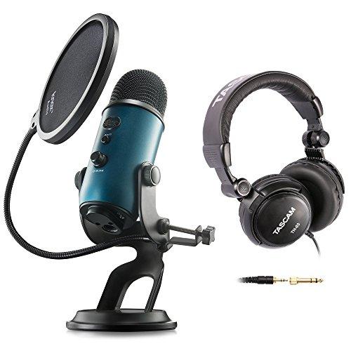 Blue Microphones Yeti Teal USB Microphone with Studio Headphones