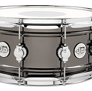 DW Design Series Black Nickel over Brass Snare Drum 14x6.5 Inch