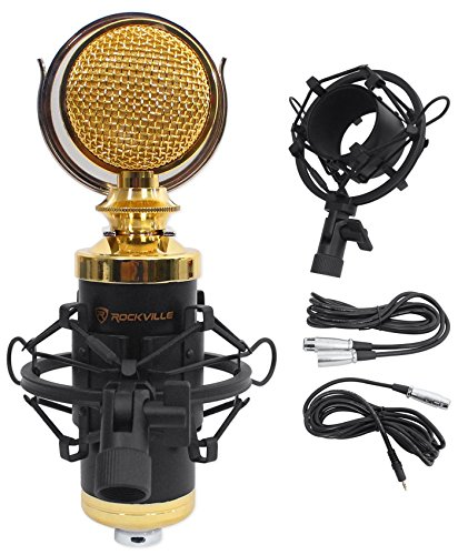 Rockville Pro Studio Recording Condenser Microphone Mic+Metal Shock Mount