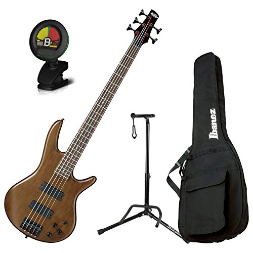 Ibanez 5 String Walunt Flat Finish Electric Bass