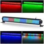 Wash Light Bar, 20″ 25w 108 RGB LEDs Stage Light Bar by DMX 512 and Sound Activated for Club Ballroom Uplights Wedding Party Stage Wash Lighting 3