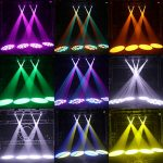 U`King 50W LED Moving Head Light with Remote 8 Gobo 8 Pattern Spotlight by DMX Controlled 9/11 Channel for Disco Club Party Stage Lighting Shows 2