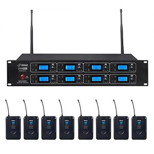 Pyle Professional 8 Channel UHF Wireless Microphone & Receiver System