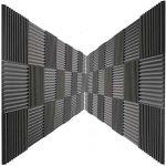 48 Pack Acoustic Panels Studio Foam Charcoal Wedges 1″ X 12″ X 12″