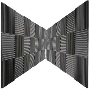 48 Pack Acoustic Panels Studio Foam Charcoal Wedges