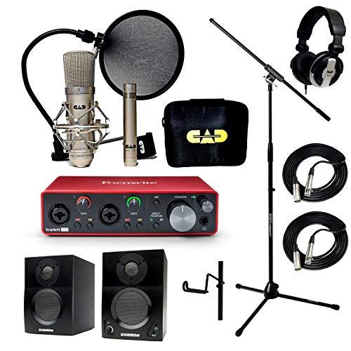 Home Recording Studio Bundle Stand Focusrite Scarlett